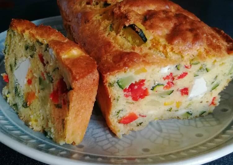 recette Cake aux restes de légumes le délicieux