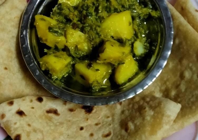 Fenugreek and potato sabji