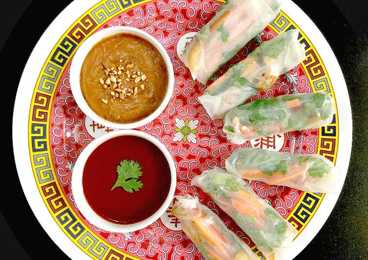 Vietnamese Style Vegetarian Spring Rolls