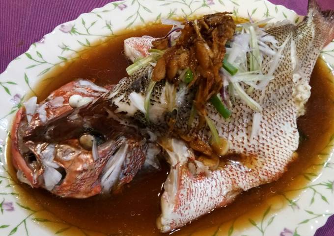 Recipe of Homemade Steam Red Snapper in Chicken Essence