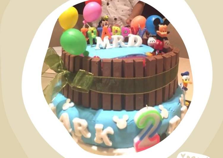 Birthday Cake (Japanese cheese n choco Birthday cake)