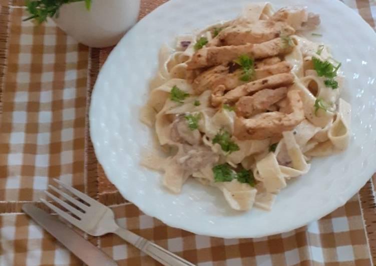 Steps to Prepare Quick Fettuccine alferado pasta
