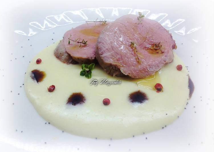 Ricetta Girello di vitello arrosto con fonduta