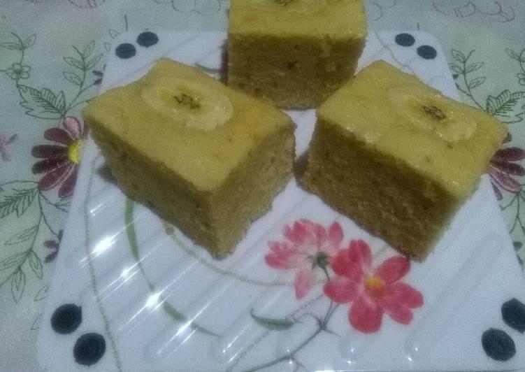 6 Langkah Resep Cake Pisang 5 Bahan Sangat Lembut No Bp Sp Rebake Yang Sederhana
