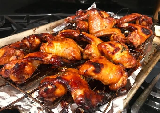 Hot & Sticky Hoisin Sriracha Lime Chicken Wings