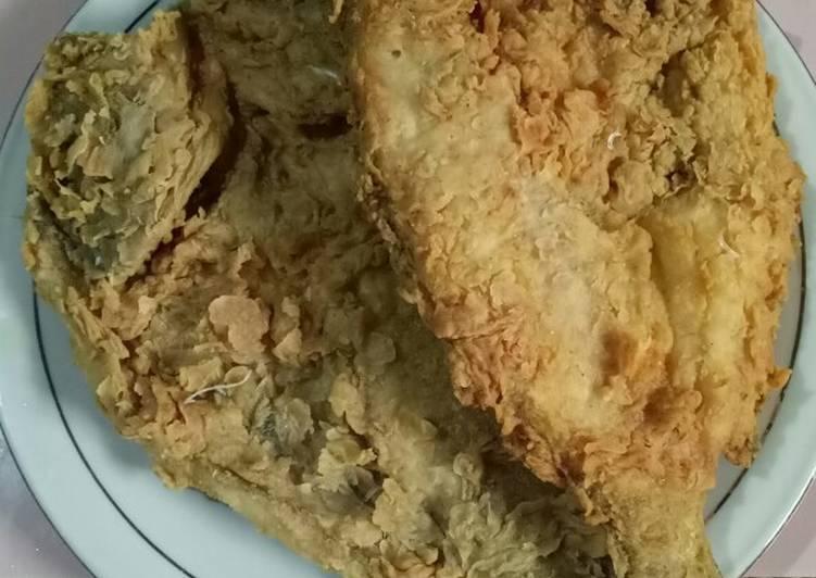 Ikan Kerapu goreng tepung