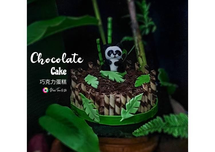 Bagaimana Caranya Mempersiapkan Enak 271. Chocolate Cream Cake | Panda Cake | Kue Ulang Tahun | 巧克力蛋糕