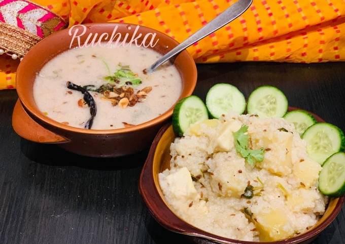 Easiest Way to Make Favorite Singhada ki kadhi aur Samak pulav