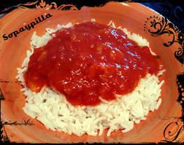 Curry con leche de coco y arroz basmati