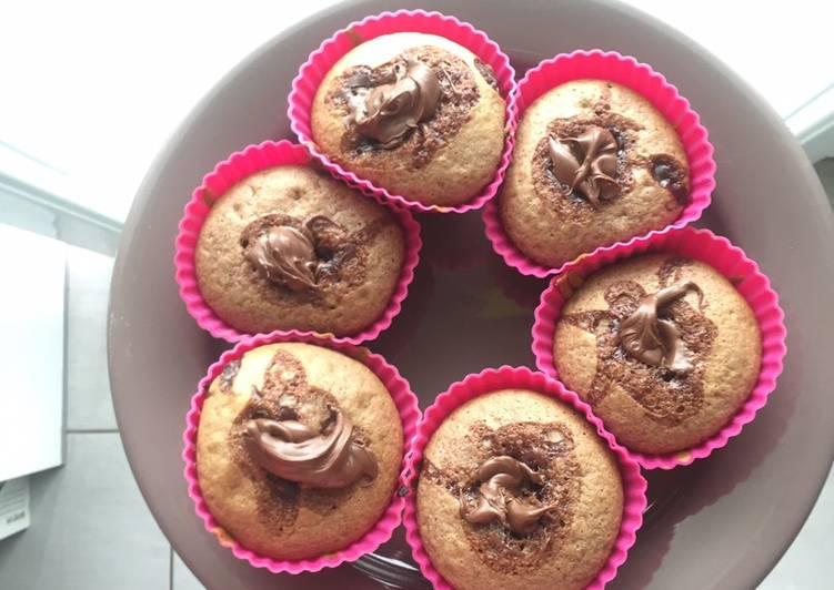 Muffin double nutella