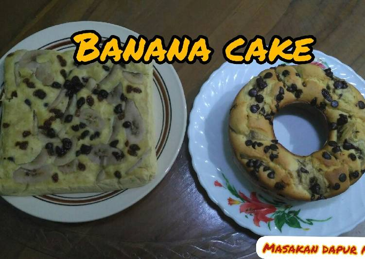 Banana Cake/Bolu Pisang Versi Kukus dan Panggang