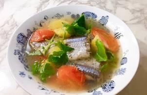 Cá thu nhật nấu canh ngót(canh mẵn)
