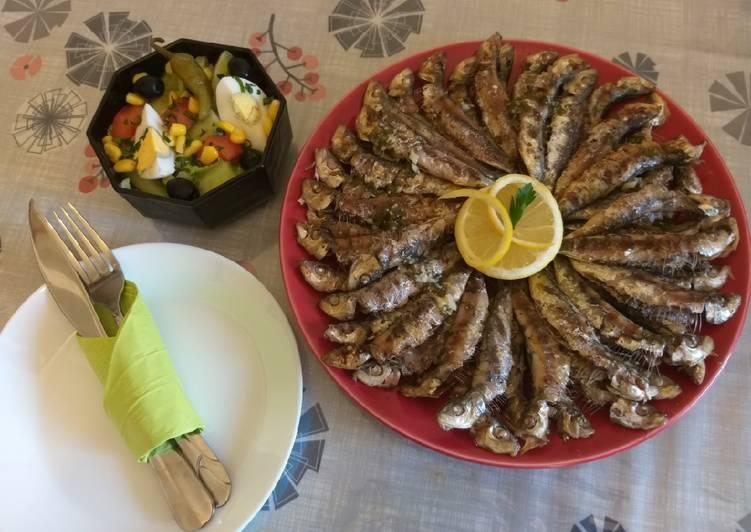 Sardines grillées à la Marseillaise#recette facile