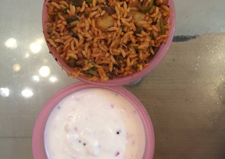 Simple Way to Prepare Super Quick Homemade Aloo mutter peas masala rice