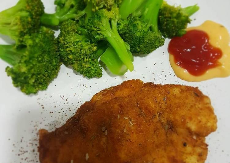 Resep Chicken Schnitzel Oleh Clairine Cookpad