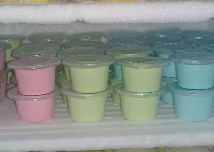 Ice cream pop ice lembut