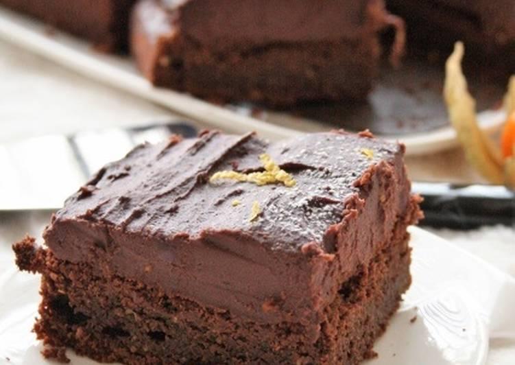 Moelleux au chocolat et sa crème de patates douces chocolatée  sans gluten, sans lait, sans oeufs