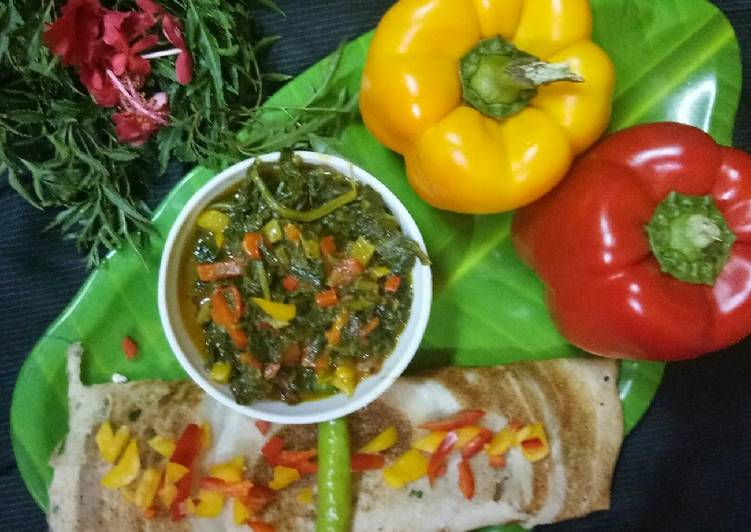 Masala dosa with bell pepper sabji - Laurie G Edwards