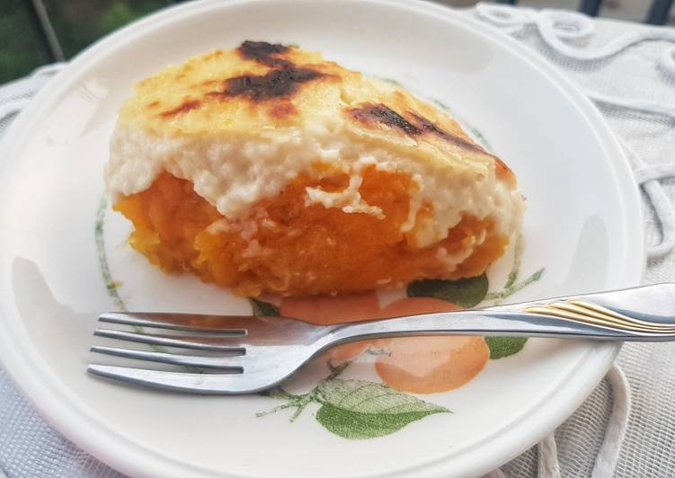 Sweet potatoes bechamel