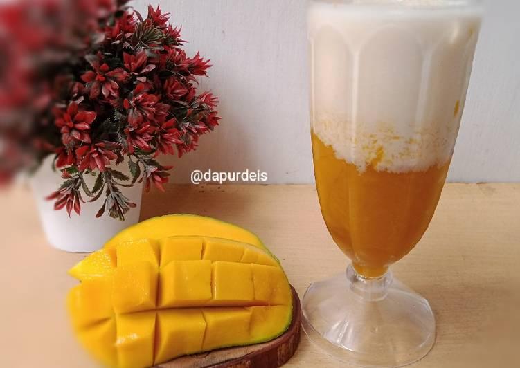 Cara mudah membuat Korean Fresh Mango Milk