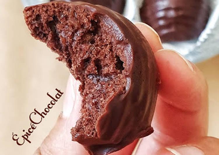 Recette Délicieuse Petits gâteaux glacés chocolat noisettes