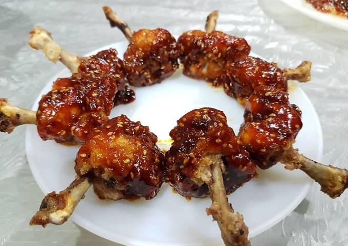 Chinese Style Honey Lollipop Chicken