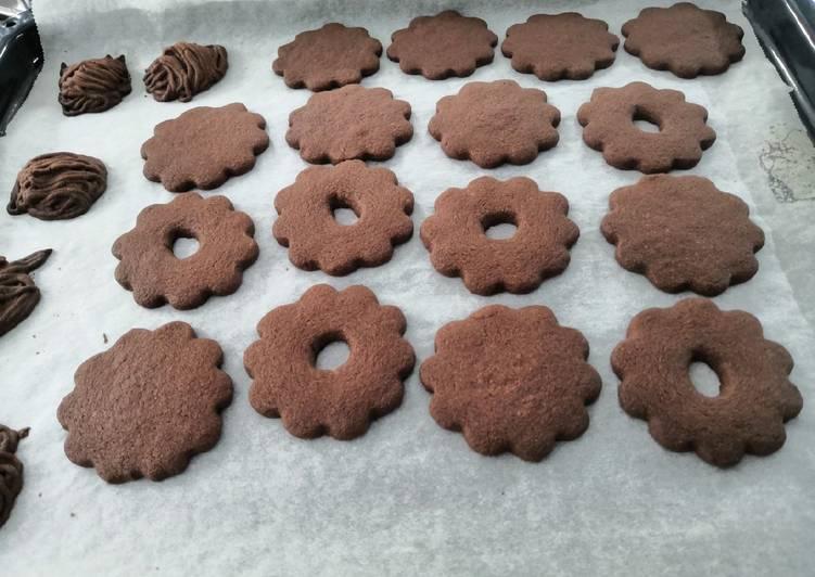 Glutén-, tej- és tojásmentes kakaós linzer, keksz alap recept foto