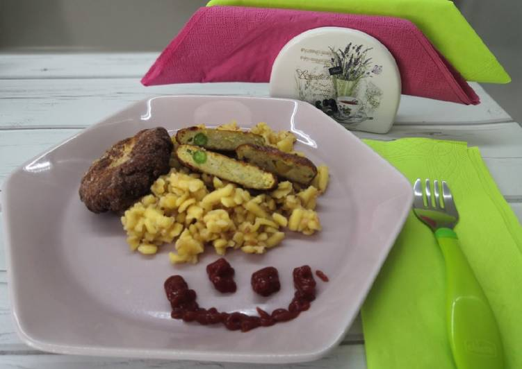 Gluténmentes gyerekmenü: zöldséges csirkefasírt, házi tarhonya recept foto