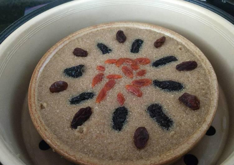 Recipe of Speedy Steamed amaranth black jujubes cake蒸苋菜子