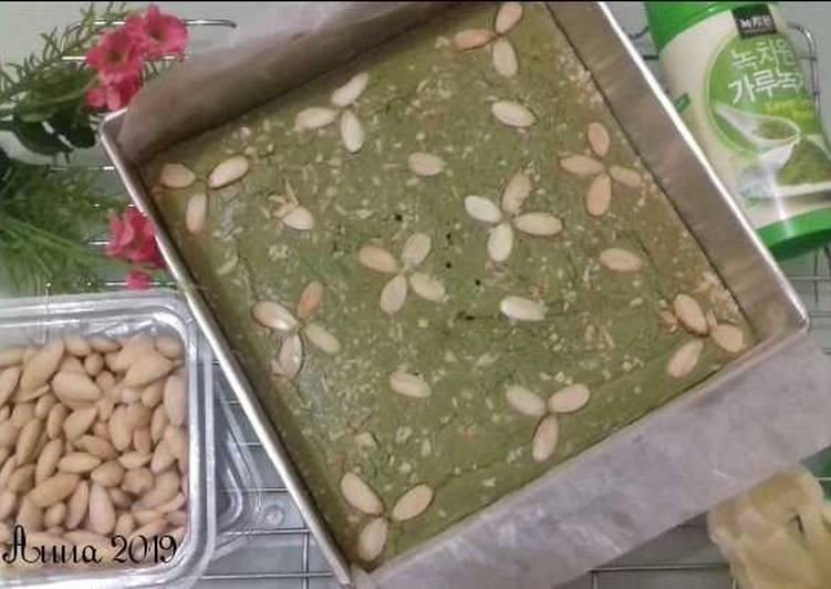 Bagaimana Membuat Resep Mantab Dari (11.2) Almond Matcha Brownies