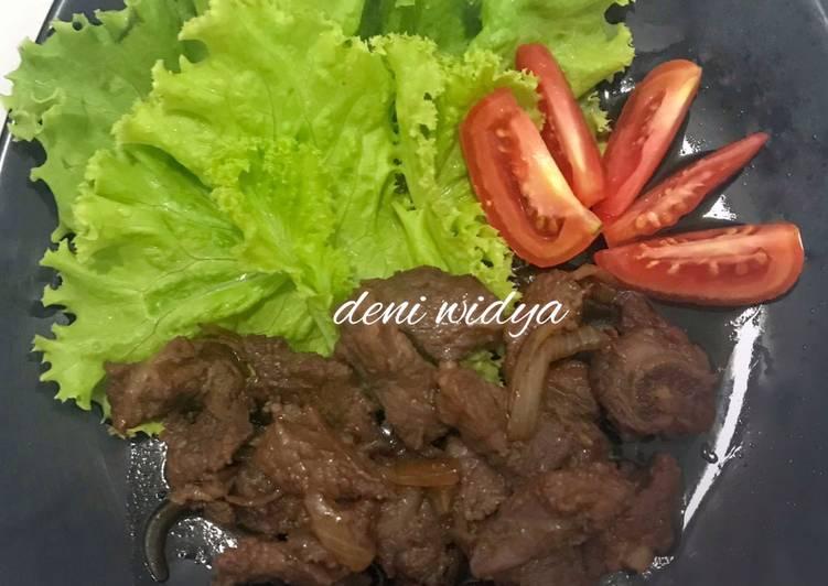 Daging Sapi Saus Tiram (Beef Oysters Sauce)