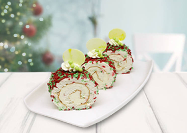 Christmas Angel Roll Cake