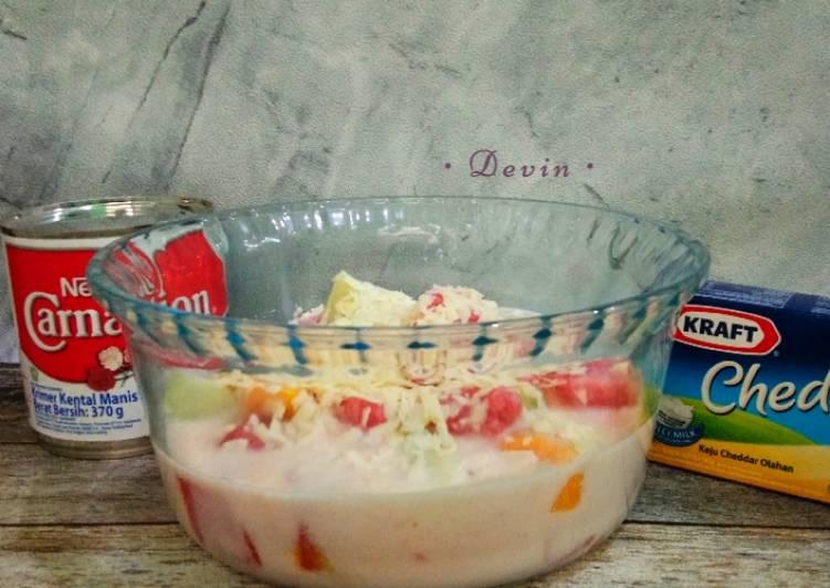 96. Salad Buah Asam Manis Segeeerr - cookandrecipe.com