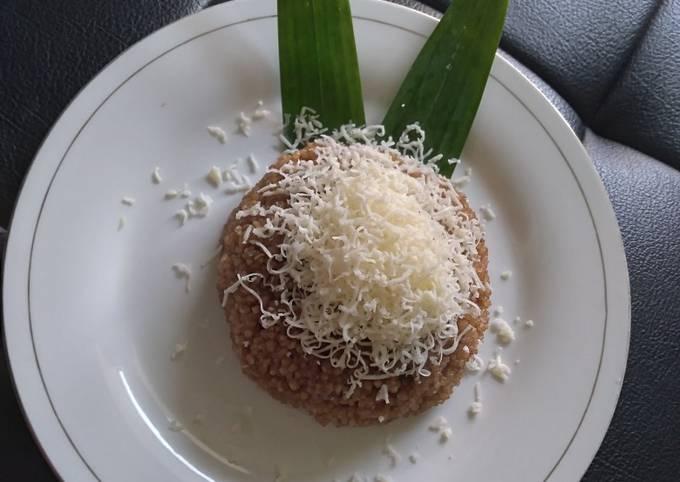 Tiwul krawu gula aren toping keju