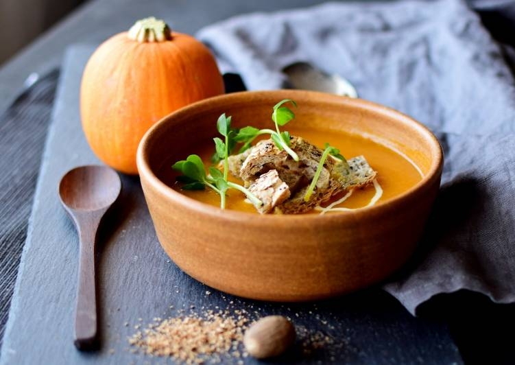 Simple Way to Make Super Quick Homemade Slow Cooked Pumpkin Soup