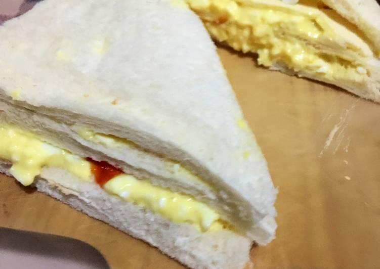Sandwich egg mayo rumahan