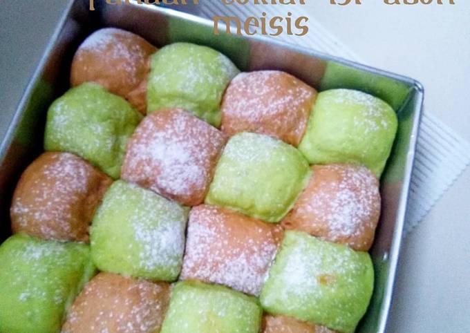 Japanese Milk Bread Pandan Coklat isi abon meisis