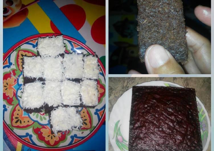 Cake Singkong Dgn Coklat DiKukus - Eggless - Simple - No Mixer