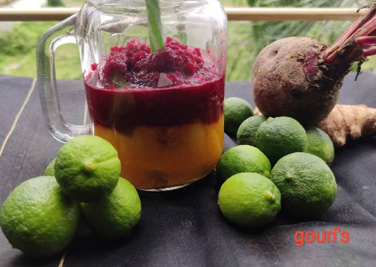 Beetroot smoothie with mango