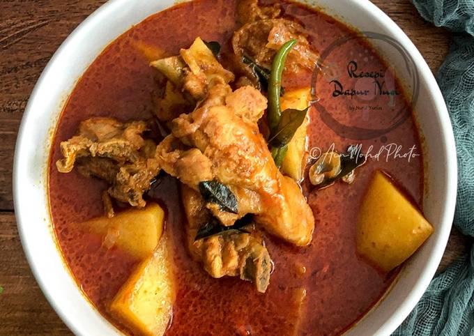 Resepi Kari Ayam Pedas Sederhana Pawtaste Com