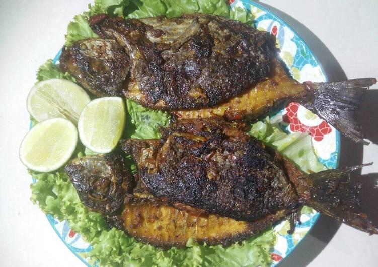 Ikan Baronang Bakar Bumbu Rica