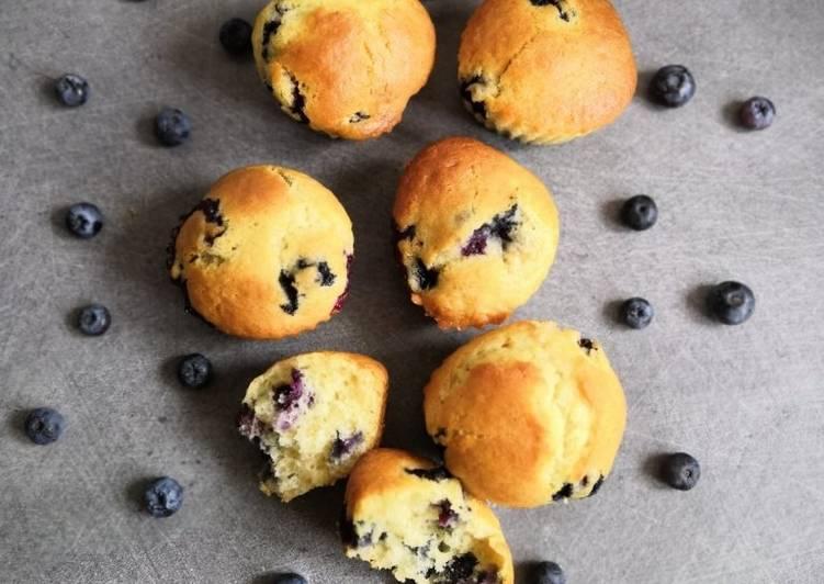 Recette De Muffins moelleux aux myrtilles