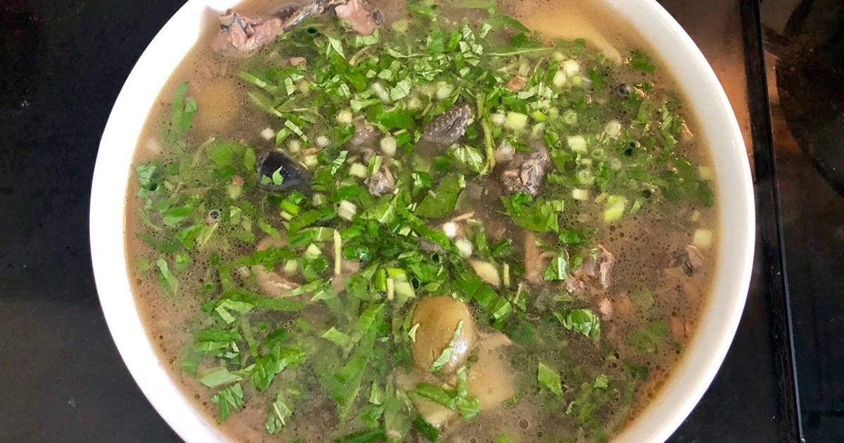 Cách Làm Món Canh gà ác hầm trám xanh của Hoàng Phương Thảo - Cookpad