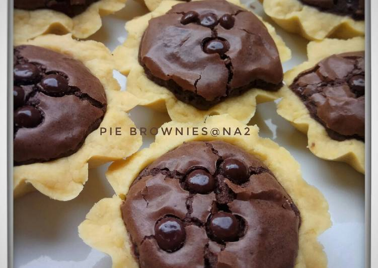 Resep Pie brownies simple Paling Gampang