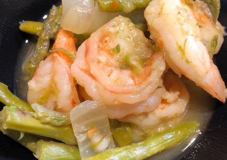 Drunken 🥴 Spicy 🥵 Shrimp 🍤 with Asparagus