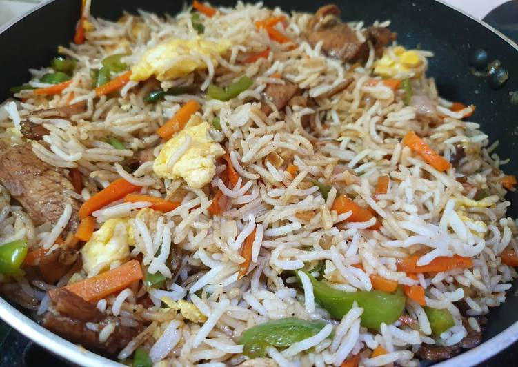 Steps to Make Most Popular Mixed Chicken Fried Rice