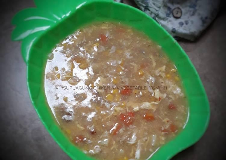 Sup jagung chiken mix vegetable yumih