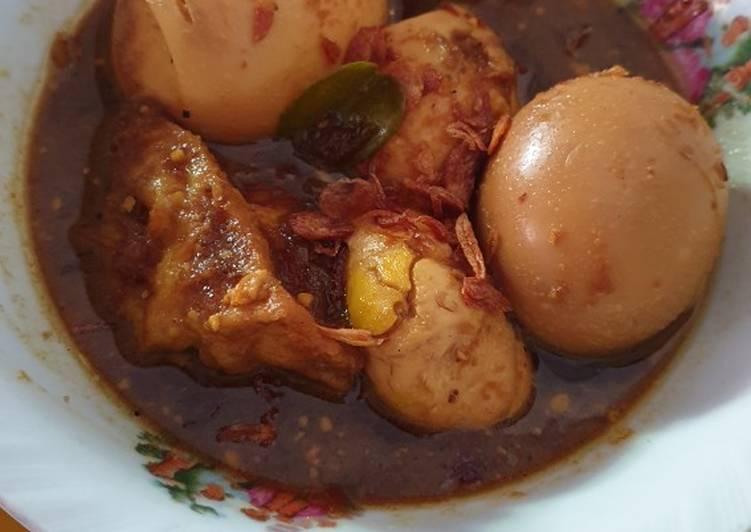 Semur Tahu Telur (Pendamping Nasi Uduk Khas Jakarta)