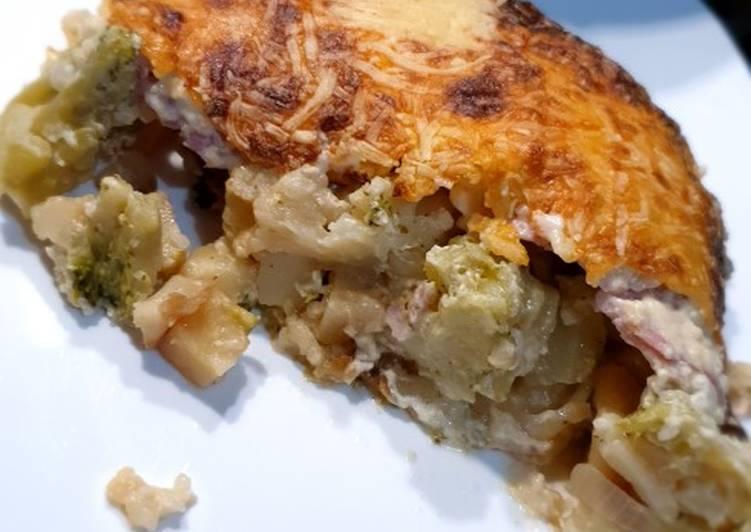 recette Gratin de choux fleur et brocoli sauce fromagère délicieux