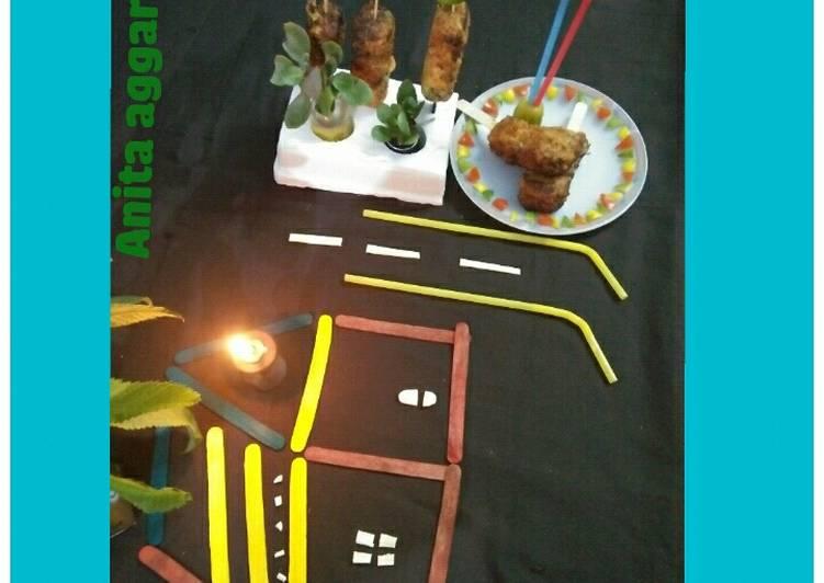 What are some Dinner Easy Winter Veggie traffic lights fried ice cream sticks